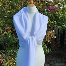 White Pashmina Wrap Ladies Cashmere Blend Shawl Large Scarf Wedding
