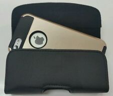 FOR iPHONE 6 PLUS BELT CLIP LEATHER HOLSTER FITS A SUPCASE HYBRID CASE