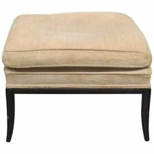 Mid Century Modern Mcm RobJohns Gibbings Style Upholstered Footstool Stool