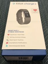 *Used* Fitbit Charge 2 Heart Rate Fitness Wristband Watch w/Charger + 6 Bands