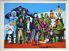 Vintage 1978 DC SUPER VILLAINS Pin up Poster HAND SIGNED by Artist NEAL ADAMS