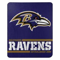 "New Baltimore Ravens NFL Split Wide Fleece Throw Blanket Large Size 50""x60"""