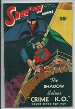 **SHADOW COMICS #7**(OCT. 1947)**GOLDEN AGE**BOXING COVER**CRIME K.O.**FN/VG**