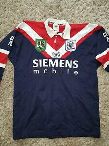 NRL SYDNEY ROOSTERS JERSEY SIZE 54 NEVER WORN SIGNED BY FREDDY