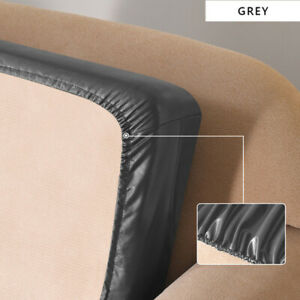 Fitted Sofa Covers Faux Leather Seat Covers Waterproof Stretch Slipcover Corner