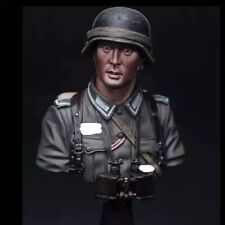 1/10 BUST Resin Figure Model Kit German Soldier Panzer Grenadier WWII Unpainted