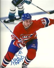 GILBERT DIONNE SIGNED MONTREAL CANADIENS 8x10 PHOTO! Autograph