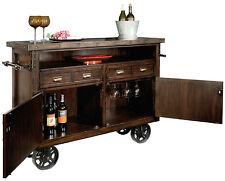 Howard Miller 695-146 (695146) Barrows Wine & Bar Cabinet - Rustic Hardwood