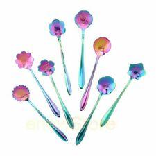 Creative Stirring Spoon Set of 8 Flower Shape Coffee Teaspoon Kit Tableware