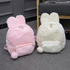 Cute Girl Lolita Rabbit Ear Plush Backpack Lovely Shoulder Bag Handbag Bookbag