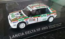 1/43 ufficiale Lancia Delta HF 4x4 RALLY DELLA LANA 1987 TOTIP Auto Diecast