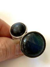 Sterling Silver Labradorite Feldspar Ring