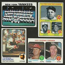 1973 Topps New York Yankees Team Set EX+ (29)