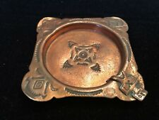 Vintage Navajo Copper Ashtray Hand Made Old One!