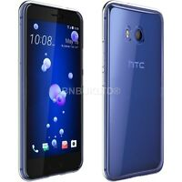 Clear Slim Gel Case and Glass Screen Protector for HTC U11