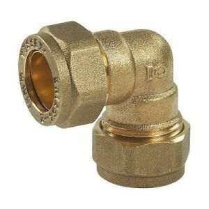 Brass Compression 10mm  Elbow Bend 90° Obtuse Angle Copper Fitting plumbing/diy