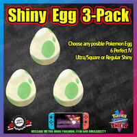 Square Shiny Egg 3-Pack | Choose Yours | Isle of Armor | Pokemon Sword Shield