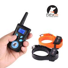 Paipaitek Large Dog Training Collar Anti Bark Behavior Control Rainproof 2 Dogs