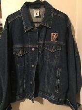 Harley-Davidson Warner Bros Taz Rough Riders Jean Jacket Mens Size Medium