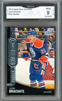 GMA 9 Mint LEON DRAISAITL 2014/15 UD Upper Deck OVERTIME ROOKIE Card OILERS!