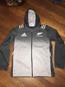 Adidas All Blacks grey Full-Zip M Hoodie Jacket athletic trainer Rugby