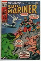 Marvel Comics  The Sub-Mariner #35 March 1971 FN Prelude to The Defenders