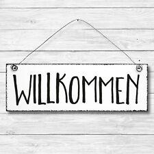 Shabby Holz Deko Wand Tür Schild Vintage DEN BACH RUNTER Dekoschild Geschenk