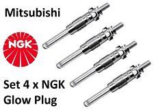 NGK GLOW PLUGS SET 4 X MITSUBISHI L200 L300 PAJERO SPORT 2.5 D TD Y-733J 6592