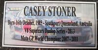 CASEY STONER 3D Silver picture Dunlop Series Plaque FREE POSTAGE