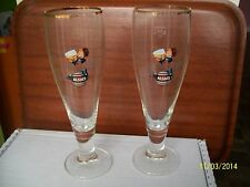 2 VERRE BIERE 25CL PUBLICITE FISCHER ALSACE 70'S DRINK ADVERTISING BEER birra