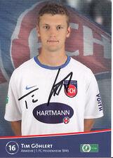 Tim Göhlert 1.FC Heidenheim 2011-12 TOP AK +A29910