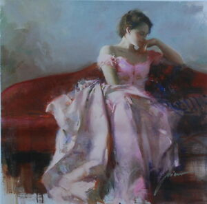 """Pino Daeni """"EVENING"""" Giclee on Canvas #1/500.  Signed and Numbered with COA!"""