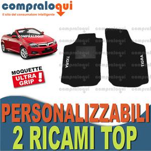 PER OPEL TIGRA TWINTOP TAPPETINI per AUTO tappeti IN MOQUETTE + 2 RICAMI TOP