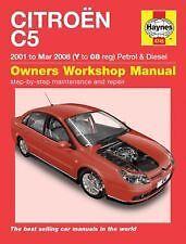 CITROEN C5 2001 - 2008 diesel essence Haynes manual 4745