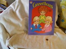 """Canned Beans Paper Dolls"", Mattel, Whitman Book, Western Pub 1977"