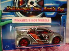 2005 Hot Wheels VOLKSWAGEN NEW BEETLE CUP #142 nc☆gray VW Bug;red 5sp☆