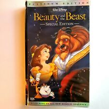 Beauty and the Beast VHS 2002 Platinum Special Edition FREE SHIPPING
