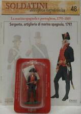 """Soldatini Napoleonici in piombo """"SERGENTE, Artiglieria di marina Spagnola, 1797"""""""