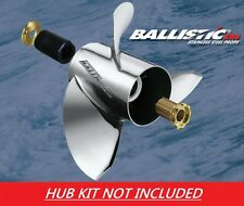 Ballistic XHS 10 1/8 x 15 933015 Stainless Propeller For Mercury 9.9 - 25HP