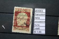 FRANCOBOLLI ITALIA OCCUPAZIONE FIUME USATI (A64966)