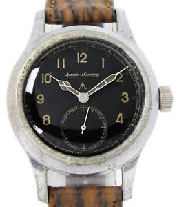 Jaeger-LeCoultre WWW British Military Dirty Dozen Very Rare Original Black Dial
