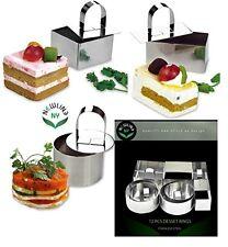 NewlineNY Stainless Steel 12 Pcs Set Dessert Rings