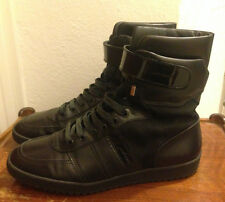 DIOR HOMME B50 HI TOP PATENT VELCRO BOXING HARNESS TRAINERS SNEAKERS HEDI BOOTS