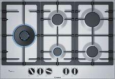 Piano cottura Bosch PCS7A5B90  a gas di 75 cm di larghezza - Acciaio inox