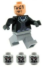 Alfred the Butler Minifig & 3 Zombie Heads Printed on LEGO Parts Custom