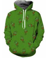 Cartoon Pepe the Frog 3 D Printing Sweatshirts Unisex Sports Hoodie Jumper Coat