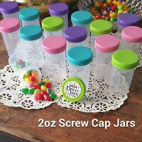 18 Pill Bottle Jars Pink Aqua Purple Lime Caps Doc McStuffins 4314 DecoJars USA