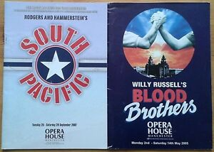Individual Manchester Opera House programmes 2000s, theatre programme