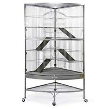 "Prevue Large Corner Ferret Cage 63""H with 5 Levels Ramps Platforms Wheeled Stand"