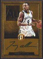 2015-16 Gold Standard AU Autograph #AU-TA Tony Allen Auto 03/79 Grizzlies
